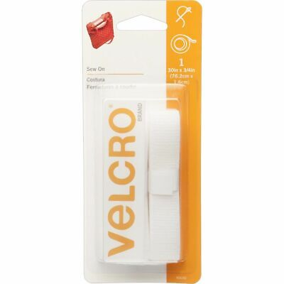 """VELCRO Brand  Sew On Fasteners  3/4"""" Wide Tape  30""""  White"""