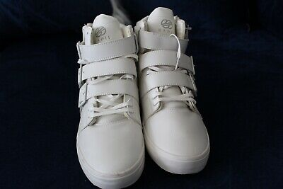 818aa5580c210 Radii Straight Jacket Plus Mens White Suede High Top Lace Up Sneakers Shoes  10