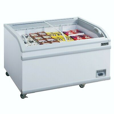 """80"""" Curved Glass Top Sliding Lid Chest Freezer NSF Dukers WD-700Y NEW #2241"""