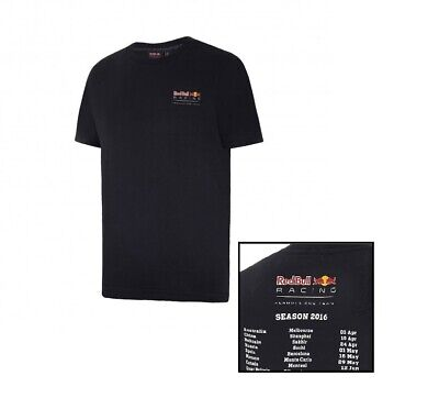T-Shirt Red Bull Racing Formula One Team Mens PUMA Tour Dates Tee F1 NEW!
