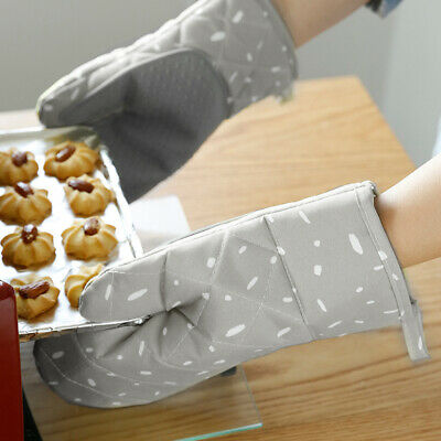 Home Heat Proof Microwave Oven Barbecue Pot Gloves Mitts Kitchen Gloves Protect-