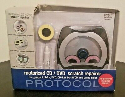 Protocol Motorized CD DVD Game Disc Scratch Repairer NEW comes with AC adapter