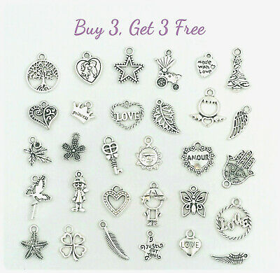 Buy 3 Get 3 Free! Dangle Charms for Bracelet, Necklace, DIY Jewelry Pendant 10