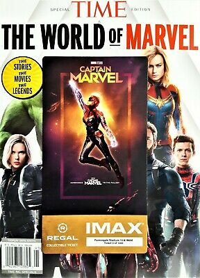 Captain Marvel IMAX Regal Collectible Ticket ! 3 Of 1,000 ! Week 1 !