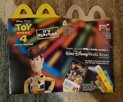 McDONALDS HAPPY MEAL TOY STORY 4 2019 ( HAPPY MEAL BOX )  WOODY COVER