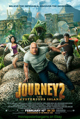 JOURNEY 2 THE MYSTERIOUS ISLAND MOVIE POSTER DS 27x40 ORIG! 2011 DWAYNE JOHNSON