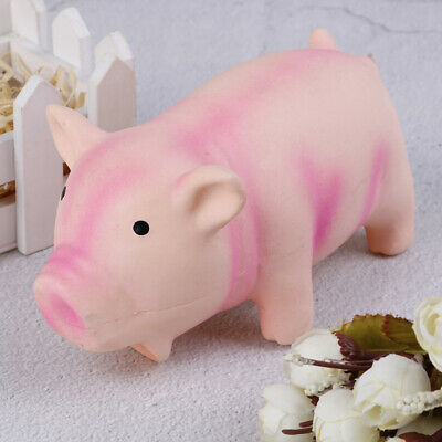 Cute Pig Grunting Squeak Latex Pet Toys Dog Squeaker Chew Training Products.