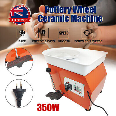 350W 25CM Electric Pottery Wheel Machine Ceramic Work Clay Art Craft Foot Peda A