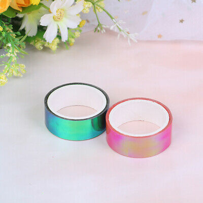 1PC Rhythmic Gymnastics Decor Holographic RG Prismatic Glitter Tape Hoop Stick.