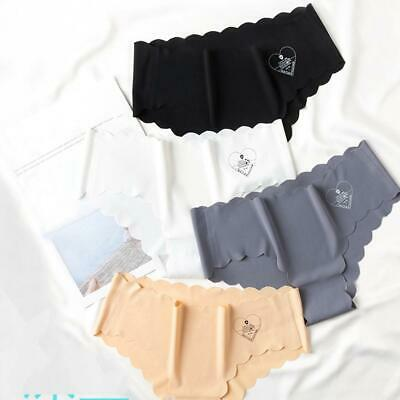 Womens Ice Silk Panties Low Waist Sexy Breathable Invisible Seamless Underpants