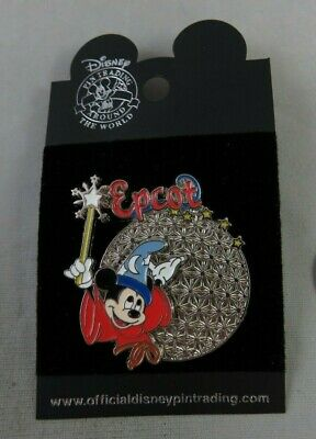 Walt Disney World Pin - Epcot with Sorcerer Mickey Mouse - Spaceship Earth