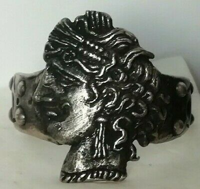 Ancient Antique Roman Silver Ring Tanit CARTHAGE in ZEUGITANA First Punic War