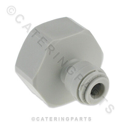 "Tube Connector Adaptor 3/4"" Bsp Female Screw On To 1/4"" Push Fit Plastic Pipe"