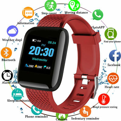 ID116 Plus Smart Watch Bluetooth Bracelet Fitness Tracker Heart Rate Monitor UK