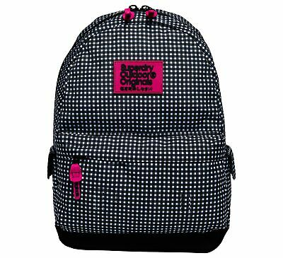 Superdry G91008Nqfi Rz4 Print Edition Montana Small Check Black Backpack