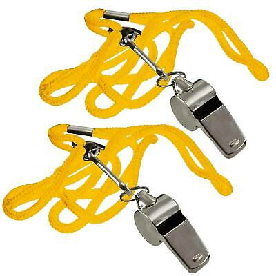 Metal Referee Whistle Key Ring Sports Pe School Football Rugby Outdoor Pack 2