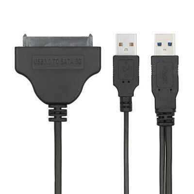 "Cablecc 50cm USB 3.0 to SATA 22Pin Cable for 2.5"" Hard Disk Driver and USB Cable"