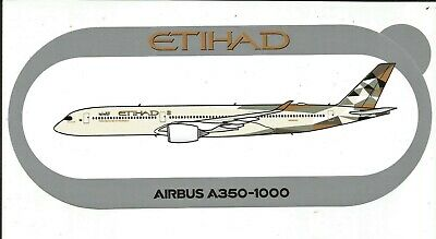 Nouveau A350-1000 Etihad Airways Sticker Autocollant Airbus - New