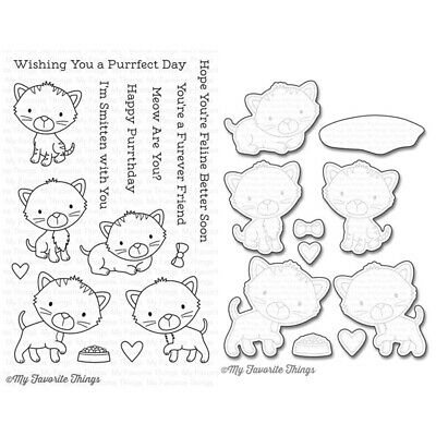 My Favorite Things Smitten Kitten Clear Stamp & Cutting Die Set