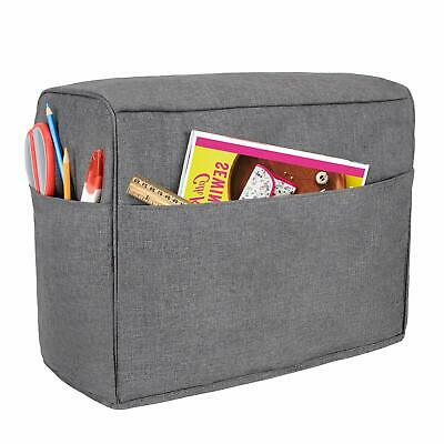 Dust Cover for Sewing Machine,  Pockets Compatible with Brother and Singer, Gray