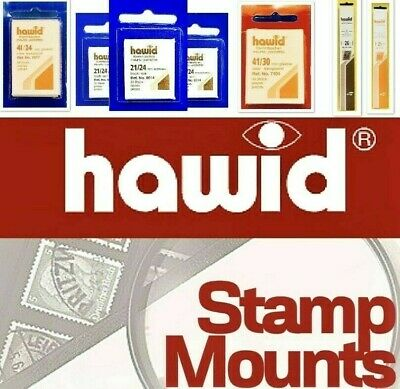 HAWID Stamp Mounts (Black Stamp Mounts) ⭐️ All Sizes Available / Stamp Mount
