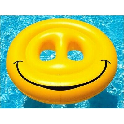 "Swimline 9053 72"" Balsa Isla Chaise Longue Smiley Flotante Juguete"