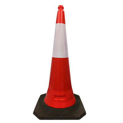 """2-Piece Design Traffic Safety Cones - 19"""" to 39"""" Height Options - Reflective"""