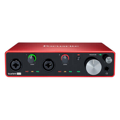 Focusrite Scarlett 4i4 3rd Gen USB Audio Interface + Ableton, Pro Tools & More