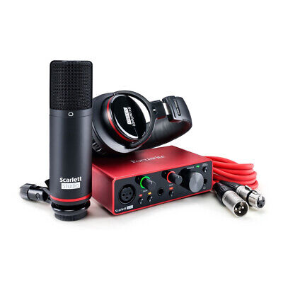 Focusrite Scarlett Solo Studio 3rd Gen USB Audio Interface + Ableton & Pro Tools