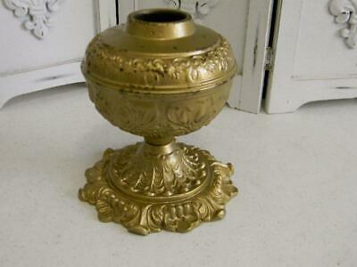 2-pc Vintage Ornate Gold Spelter Lamp Parts~Large Chunky Column spacer~Lamp Base