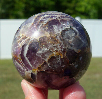 Super 7 Quartz Crystal Sphere Ball Seven Minerals Amethyst Citrine Smoky Rutile