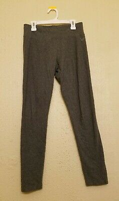 Justice leggings pants athletic fitness Activewear gray girls size 14