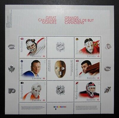 Canada 2015  Souvenir Sheet - 6 X Nhl Hockey Canadian Goalies Stamps - Mnh