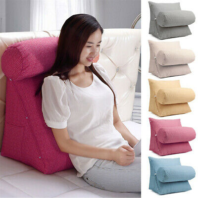 AU_ Adjustable Back Wedge Cushion Pillow Sofa Bed Office Chair Rest Neck Support