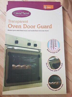 Clevamama Transparent Oven Door Guard with Fixings - Baby / Child Proofing Home