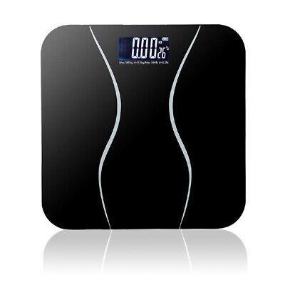 Digital Compact Electronic Bathroom Scale Toughened GlassMeasures Body Weight