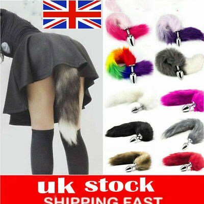 Funny Red Fox Faux Tail Plug Butt Stopper Anal Slicone Adult Toys IRF