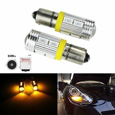 2X 4W Ampoules HY21W BAW9s 5630 SMD LED Clignotant Feux Avant Indicateur Orange