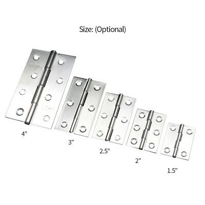 2Pcs 304 Stainless Steel Butt Hinges SS Doorhinges Hinge for Cabinet Cupboard
