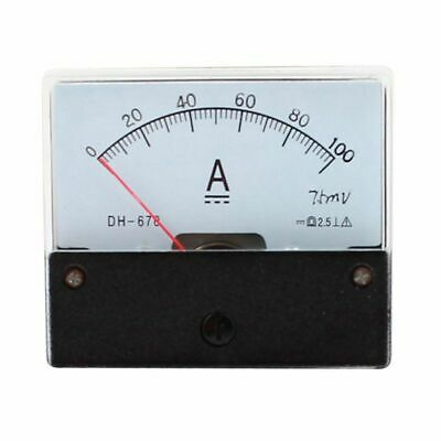 1X(DC 100A Analog Panel Ampere Current Counter Ammeter Meter DH-670 Y7R3)