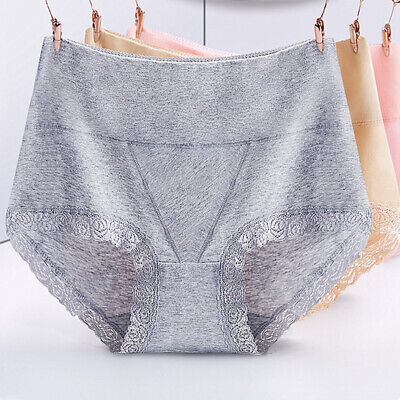 Sexy Women High Waist Underwear Soft Seamless Briefs Panties Lace Panties Size