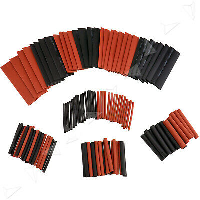 127pcs noir et rouge tube gaine tube gaine thermorétractable