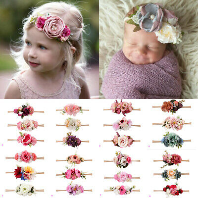 AU 3Pcs Kids Baby Wedding Flower Hair Garland Headband Floral Wreath Photography