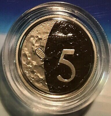 Australian PROOF 2019 50th Anniversary of the Moon Landing .5c Five Cent Coin