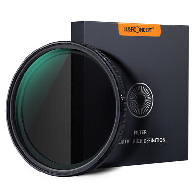 K&F Concept 72mm ND Filter ND8 to ND128 Fader Variable Neutral Density NO X Spot