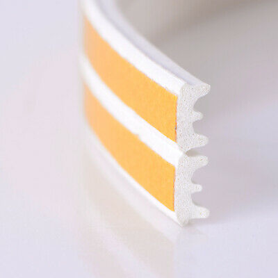 White 10M E Draught Excluder Self Adhesive Rubber Door Window Seal Strip Roll