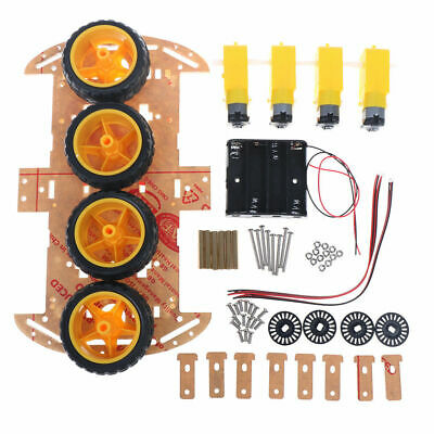 Smart Car Kit 4WD Smart Robot Car Chassis Kits w/ Speed Encoder For Arduino DIY