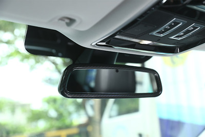 Carbon fiber Rearview Mirror Frame Trim For Land Rover Discovery Sport 2015-2017