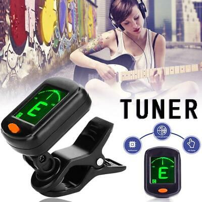 LCD Electric Guitar Tuner Clip-on Chromatic Acoustic Bass Ukulele Violin banjo