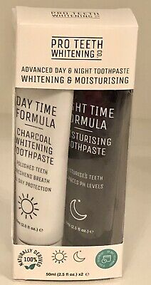 Pro Teeth Whitening Co. Activated Charcoal Day & Night Toothpaste 50mlx 2